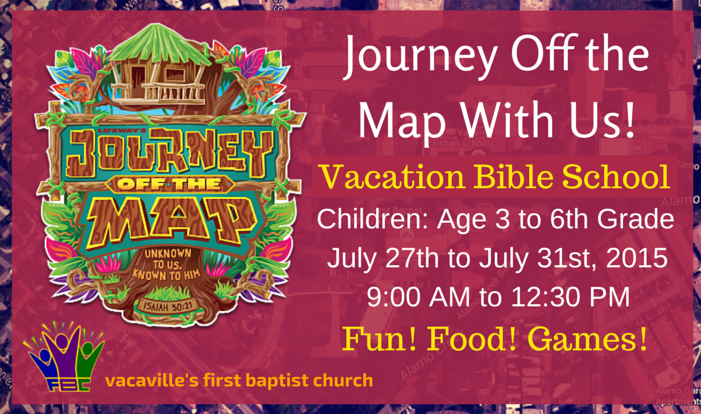 Vacation Bible School - Journey Off the Map - Daily 9:00 AM