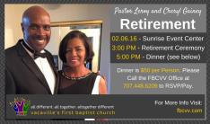 Retirement Ceremony - Feb 6 2016 3:00 PM